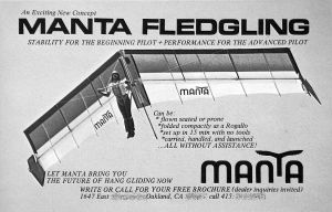 Art based on the Manta Fledgling advert in Ground Skimmer