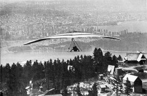 Mark Bennett flies out from Grouse Mountain, Canada. Photo by Leroy Grannis.