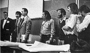 Northrop Institute of Technology Ultralight Flight Seminar in January 1974. Photo by Clara Allen.