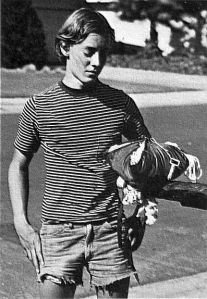 Roy Haggard, age 16 in 1971, with his emergency parachute. Photo by Bill Allen.
