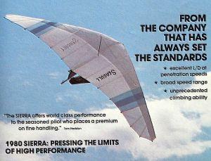 Seagull Sierra advert in Hang Gliding magazine