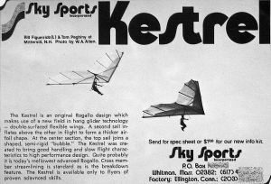 Art based on the Sky Sports Kestrel advert in Ground Skimmer, December 1975