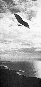 Art based on the Sunbird Gliders advert in Ground Skimmer