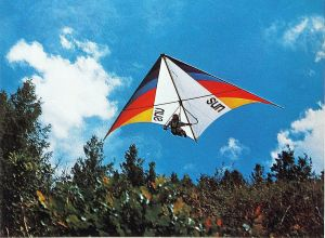 Art based on a photo by Ted Schmiedeke of a Sun Sail Rogallo