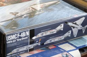 Academy 1/48th scale USMC F-4B/N box side art showing the three optional versions