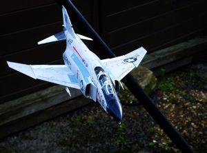 Academy 1/48 scale F-4B in flight