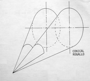 Conical Rogallo geometry by Mike Riggs