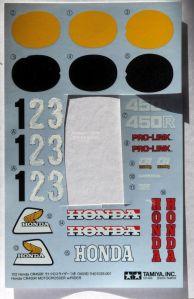 Honda number decals overpainted