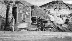 Louis Dart's flotsam palace in about 1920