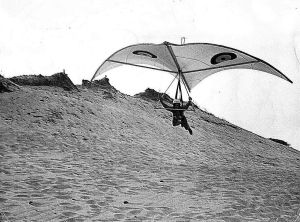 Cylindrical Rogallo of about 1972 (photographer not known)