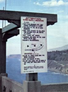 Point Fermin flying rules placard. Photo by W.A. Allen.