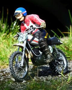 Revell 12th scale Yamaha 250 MX bike and rider left side