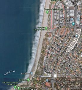 Torrance Beach Google Maps satellite image grabbed in early 2020