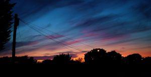 Sunset in September 2011