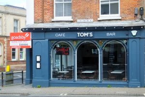 Tom's Cafe, Christchurch, Dorset, England, in May 2020