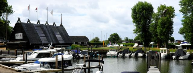 Marina in Purewell, Christchurch, Dorset, England, in June 2020