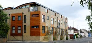 Apartments in Purewell, Christchurch, Dorset, England, in June 2020
