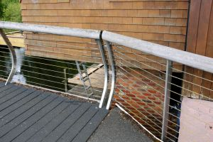 Turnbuckles on the second bridge in Purewell, Christchurch, Dorset, England, in June 2020