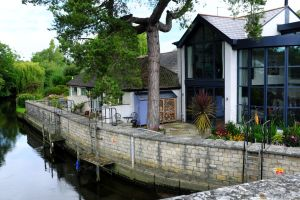 River house in Purewell, Christchurch, Dorset, England, in June 2020