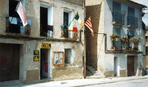 Declan Doyle's apartments, to which several of us relocated after the camp site, Ager, Catalonia, Spain, September 1989