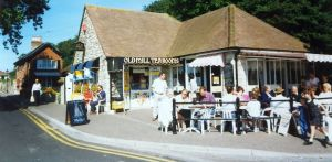 Old Mill Tea Rooms at the quay, Christchurch, Dorset, England,  in 1996