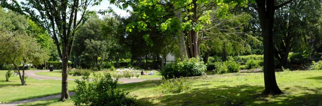 Grounds near the priory, Christchurch, Dorset, England, in June 2020