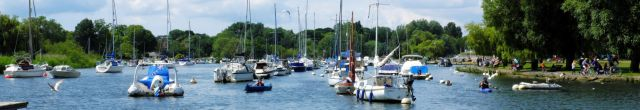 Boats in the quay at Christchurch, Dorset, England in June 2020