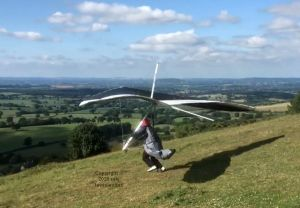 Hang glider launching
