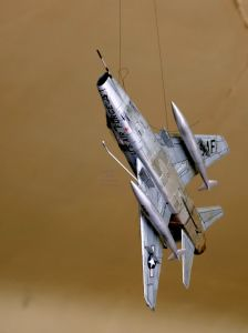 Esci 1/72 scale F-100 underside