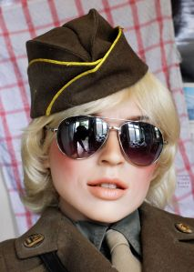 Cynthia Sinthetics doll in U.S. Women's Army Corps uniform