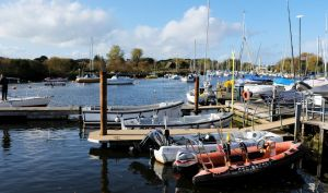 View from the marina housing, the quay, Christchurch, Dorset,