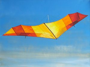Hang glider painting in progress