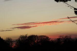 Sunset in Christchurch, Dorset, England