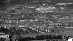 Aerial view from the south of St. Catherine's Hill, Christchurch, Hampshire, in 1951