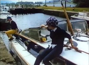 Lady Aitken and crew guide Seaspray through the Caledonian canal