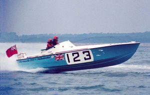Offshore powerboat UFO driven by Tim Powell