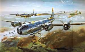 Box art of the old Airfix 1/72nd scale Boeing B-29