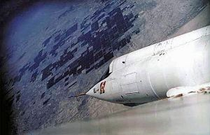 Bell X-2 wing camera shot