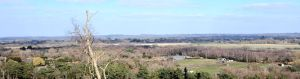 Looking approximately north from the north-east slope of St. Catherine's hill, Christchurch, Dorset