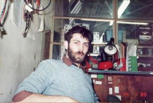 Ed presumably in his workplace, 1985