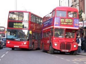 London buses on 9 December, 2005
