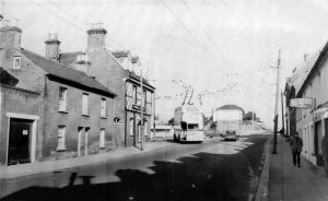 Rail bridge from Bargates in about 1965
