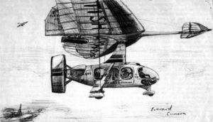 Drawing of flex-wing airliner