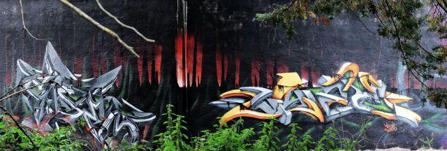 Dark forest mural
