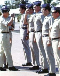 Ed Holley (third from right) and his crew each receive the silver star